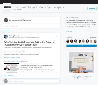 LinkedIn Groups for Foodservice