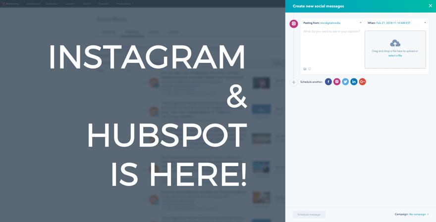 Instagram and HubSpot social tool - TMC Digital Media Tech Tip